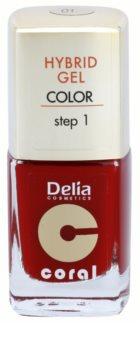 Delia Cosmetics Coral Nail Enamel Hybrid Gel gélový lak na nechty