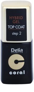 Delia Cosmetics Coral Nail Enamel Hybrid Gel vernis top coat gel