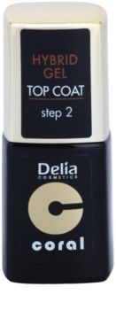 Delia Cosmetics Coral Nail Enamel Hybrid Gel żelowy lakier na paznokcie wierzchni
