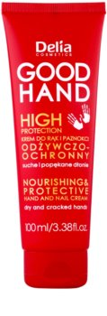 Delia Cosmetics Good Hand High Protection crema nutritiva protectora para manos y uñas