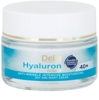 Delia Cosmetics Hyaluron Fusion 40+ intensive feuchtigkeitsspendende Creme gegen Falten