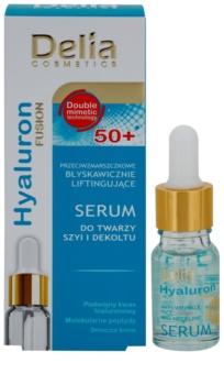Delia Cosmetics Hyaluron Fusion 50+ feszesítő szérum arcra, nyakra és dekoltázsra