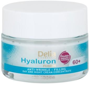 Delia Cosmetics Hyaluron Fusion 60+ Anti-Rimpel Crème voor Herstel van Huidstevigheid