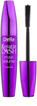 Delia Cosmetics Keratin Lash maskara za maksimalni volumen