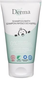 Derma Baby Shampoo en Douchegel 2in1 voor Kinderen vanaf Geboorte