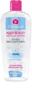 Dermacol Aqua Beauty reinigendes Mizellenwasser für junge Haut