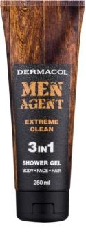 Dermacol Men Agent Extreme Clean sprchový gel 3 v 1