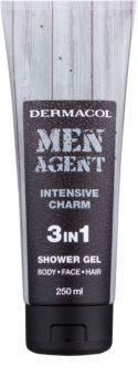 Dermacol Men Agent Intensive Charm gel de duche 3 em 1