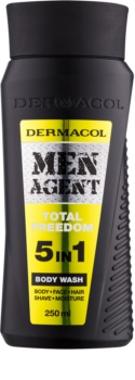 Dermacol Men Agent Total Freedom tusfürdő gél 5 in 1
