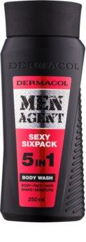 Dermacol Men Agent Sexy Sixpack gel de duche 5 em 1
