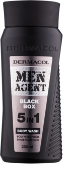 Dermacol Men Agent Black Box gel de douche 5 en 1