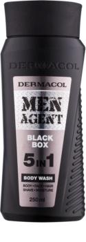 Dermacol Men Agent Black Box gel doccia 5 in 1