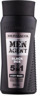 Dermacol Men Agent Black Box Shower Gel 5 In 1