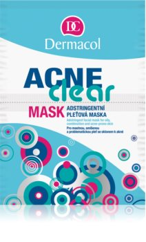 Dermacol Acneclear maschera viso per pelli problematiche, acne