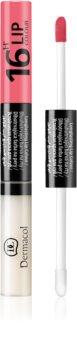 Dermacol 16H Lip Colour couleur et brillant à lèvres bi-phasée