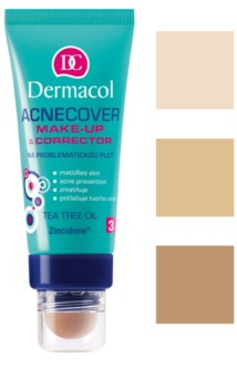 Dermacol Acnecover Foundation And Concealer For Problematic Skin, Acne