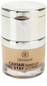 Dermacol Caviar Long Stay dlouhotrvající make-up s výtažky z kaviáru a zdokonalující korektor