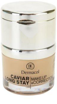 Dermacol Caviar Long Stay стійкий тональний крем з екстрактом ікри та вдосконалюючий коректор