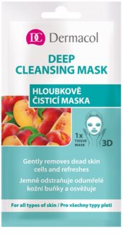 Dermacol Deep Cleasing Mask tekstilna 3D globinsko čistilna maska