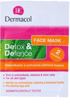 Dermacol Detox & Defence detoxikační a ochranná pleťová maska pro všechny typy pleti