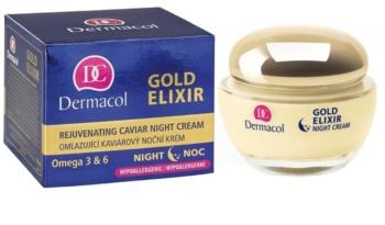 Dermacol Gold Elixir nočný omladzujúci krém s kaviárom