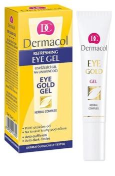 Dermacol Gold frissítő gél a duzzanatokra és a sötét karikákra