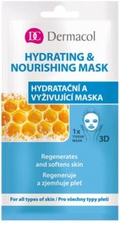 Dermacol Hydrating & Nourishing Mask Textile 3D Feuchtigkeit spendende und nährende Maske