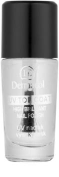 Dermacol UV Top Coat прозорий лак для нігтів