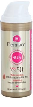 Dermacol Sun Water Resistant αδιάβροχο υγρό με χρώμα προσώπου SPF 50