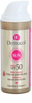 Dermacol Sun Water Resistant Getinte Waterproef Gezichtsfluid SPF 50