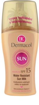 Dermacol Sun Water Resistant водостійке молочко для засмаги SPF15