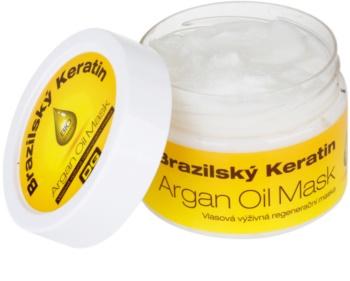 Dermagen Brazil Keratin Argan Oil máscara restauradora nutritiva para todos os tipos de cabelos
