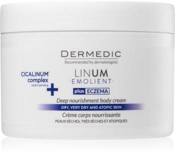 Dermedic Linum Emolient nährende Körpercreme für trockene bis atopische Haut