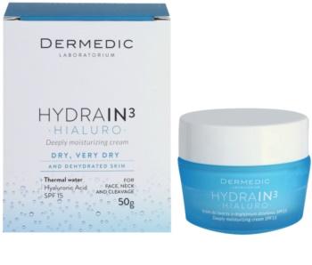Dermedic Hydrain3 Hialuro Deep Moisturizing Cream SPF15