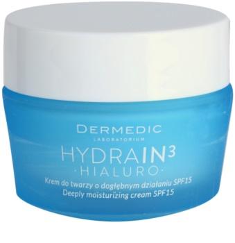 Dermedic Hydrain3 Hialuro Deep Moisturizing Cream SPF 15