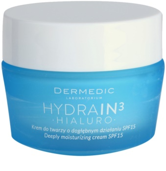 Dermedic Hydrain3 Hialuro globinsko vlažilna krema SPF 15