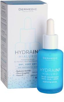 Dermedic Hydrain3 Hialuro sérum hydratant visage pour peaux sèches à très sèches