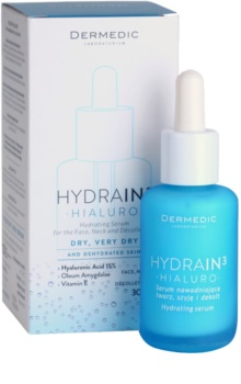 Dermedic Hydrain3 Hialuro vlažilni serum za obraz za suho do zelo suho kožo