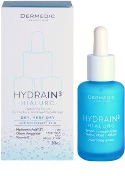 Dermedic Hydrain3 Hialuro sérum facial hidratante para pele seca a muito seca