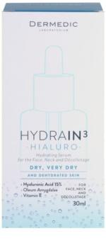 Dermedic Hydrain3 Hialuro Hydraterende Gezichtsserum  voor Droge tot Zeer Droge Huid
