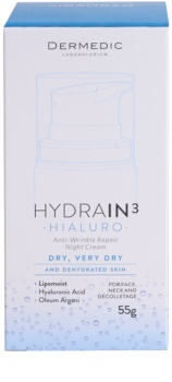Dermedic Hydrain3 Hialuro Hydrating Night Cream with Anti-Wrinkle Effect