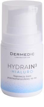 Dermedic Hydrain3 Hialuro Återfuktande nattkräm med effekt mot rynkor