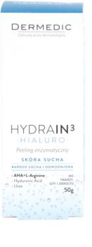 Dermedic Hydrain3 Hialuro exfoliant enzymatique pour peaux déshydratées et sèches