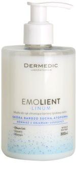 Dermedic Linum Emolient jabón de manos para proteger la barrera hidrolipídica