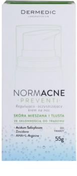 Dermedic Normacne Preventi Nachtcrème voor Regulatie en Reiniging