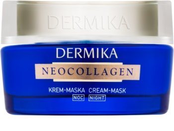 Dermika Neocollagen masque crème de nuit pour régénérer la peau et réduire les rides