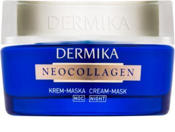 Dermika Neocollagen nočná krémová maska pre regeneráciu pleti a redkukciu vrások