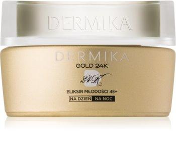 Dermika Gold 24k Total Benefit luxuriöse verjüngende Creme 45+