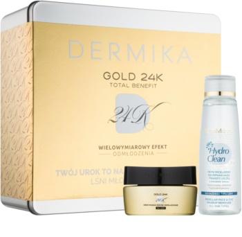 Dermika Gold 24k Total Benefit coffret cosmétique II.