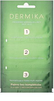 Dermika 1. 2. 3. 3-fazowa pielęgnacja normalizująca do skóry z niedoskonałościami